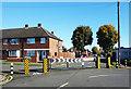 TQ1084 : Barrier on Edwards Avenue by Des Blenkinsopp