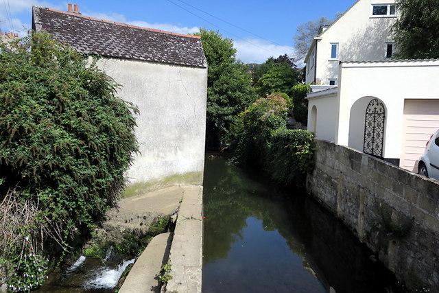 The River Lym in Lyme Regis