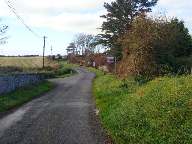 The Shelling Hill road junction on the Templetown-Maguires Cross road