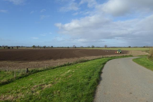Ploughing fields