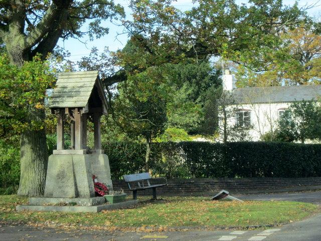 Norton Hatfield Lane and War Memorial