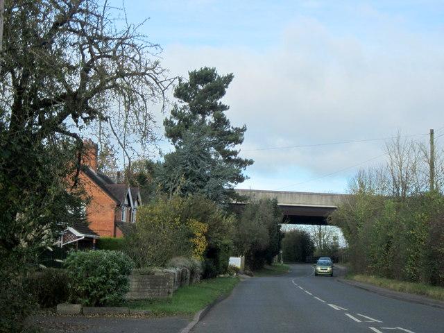 Norton Church Lane Passing Under M5 Motorway