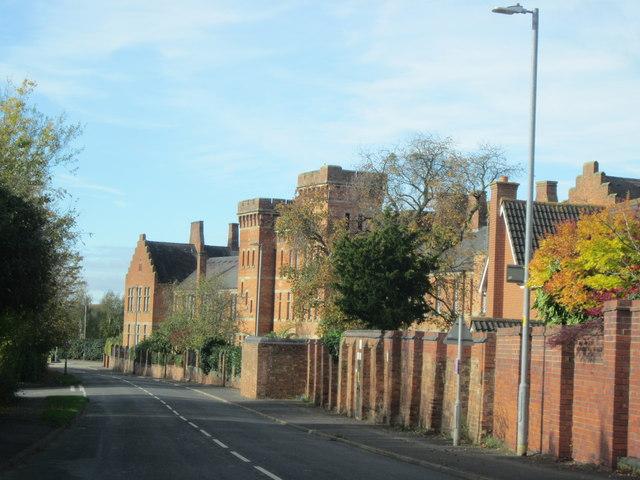 Crookbarrow Road Passing Old Norton Barracks Converted to Apartments