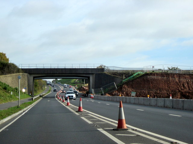 Roadworks on A4440 Worcester With Railway Overbridge