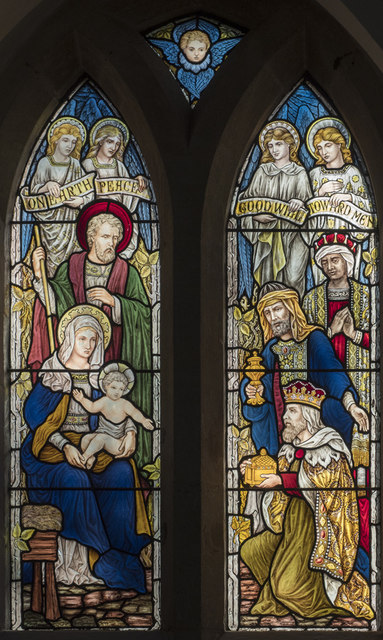St Mary, Thorpe Morieux - Stained glass window