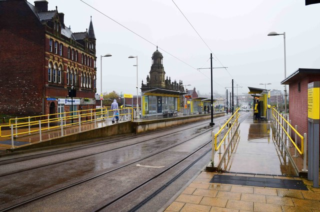 Manchester Metrolink Oldham Mumps tram stop, Mumps, Oldham