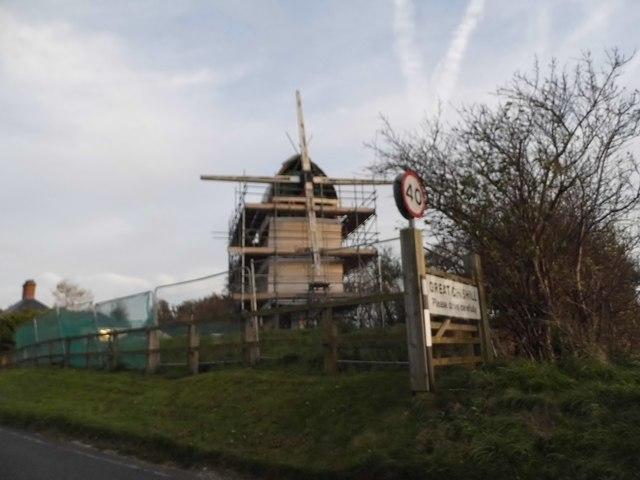 Chishill Mill, under repair