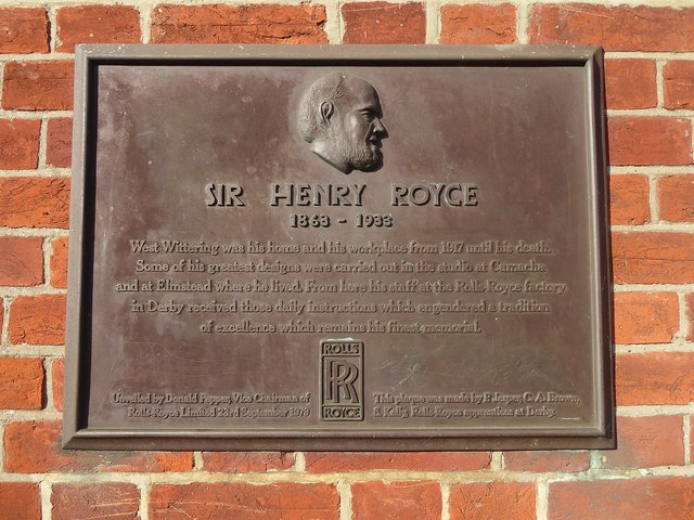 Plaque to Sir Henry Royce, West Wittering