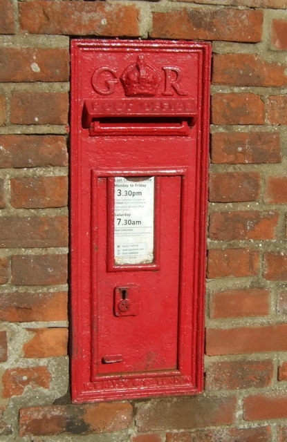 George V postbox on Tower Road, Burnham Overy Staithe