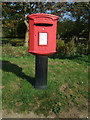 TF8541 : Elizabeth II postbox on Walsingham Road, Burnham Thorpe by JThomas