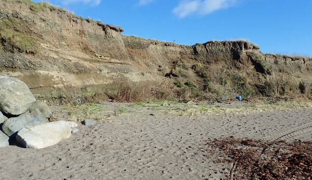 Eroded cliffs west of Cooley Point