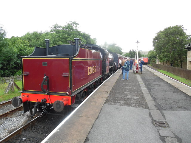 Train at Rawtenstall Station, Lancs