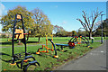 TQ1287 : Exercise Machines in Roxbourne Park by Des Blenkinsopp