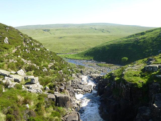 The River Tees below Cauldron Snout
