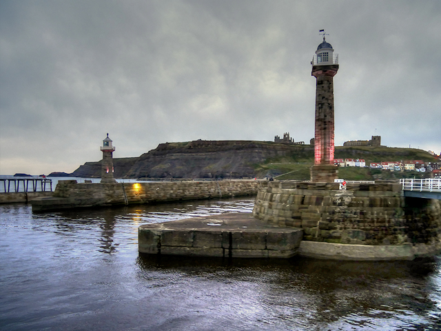 Whitby Harbour Lighthouses