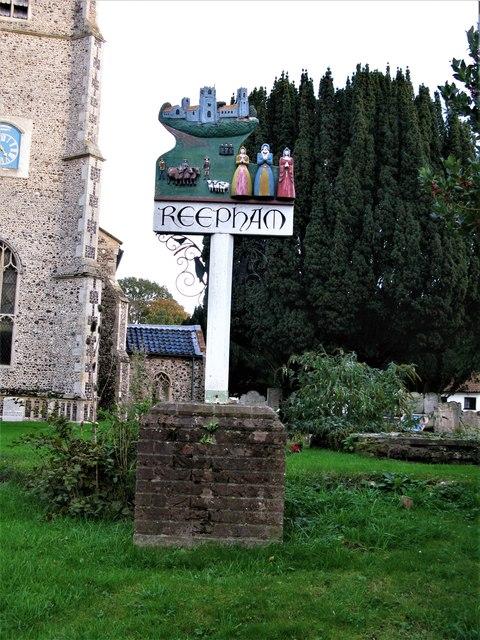 Reepham Town Sign