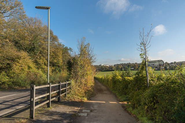 Alongside Langley Vale Road