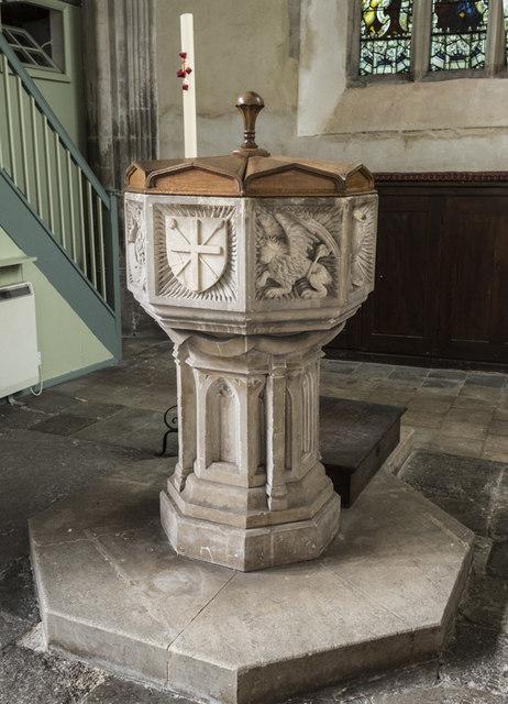 St James, Nayland - Font