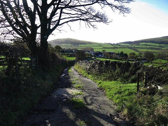 Narrow lane near Uldale
