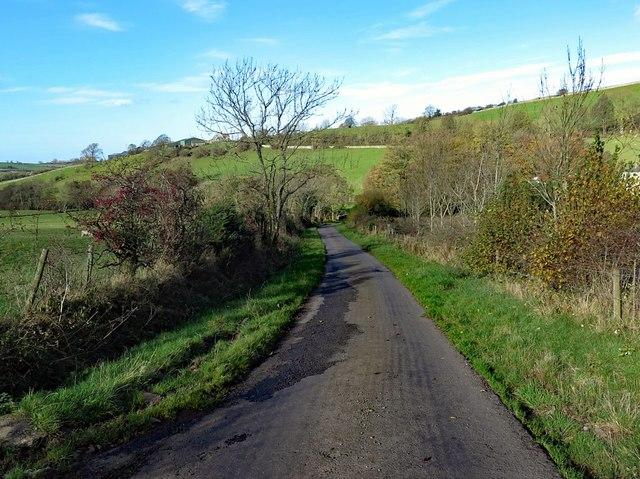 Road south of Stanthwaite Bridge