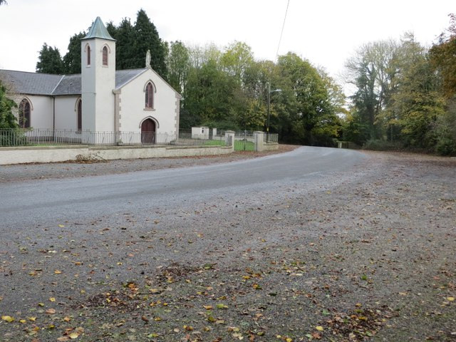 Road (L3101) at Kilmoyler Church