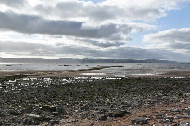 Looking across the causeway and the River Dee towards North Wales