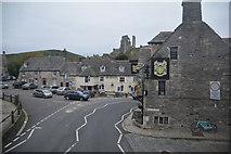 SY9682 : Corfe Castle : East Street A351 by Lewis Clarke