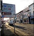 SJ0081 : A548 directions sign, Kinmel Street, Rhyl by Jaggery