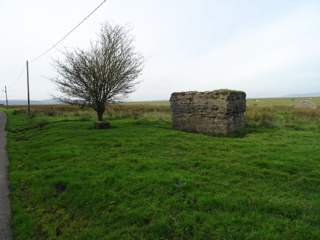 Military structure on Llanrhidian Marsh?
