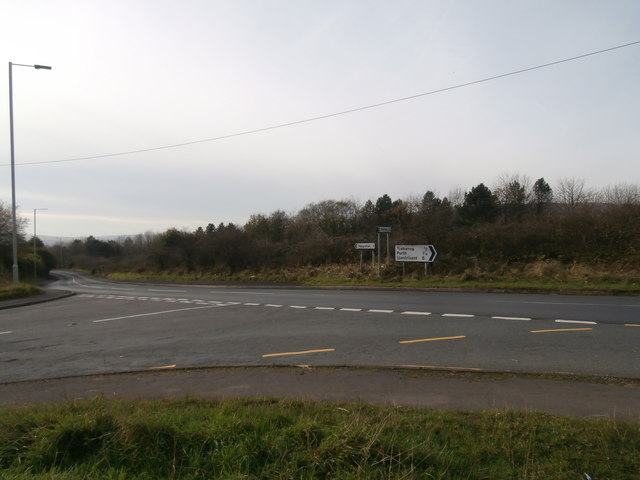 Junction of the A4233 and Llantrisant Rd, Trebanog