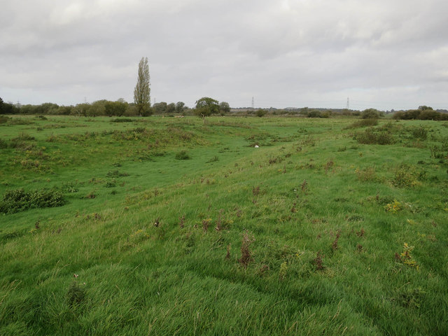 Moat earthworks near Priory Farm