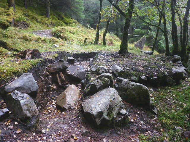 Old charcoal platform, Ardmolich Wood