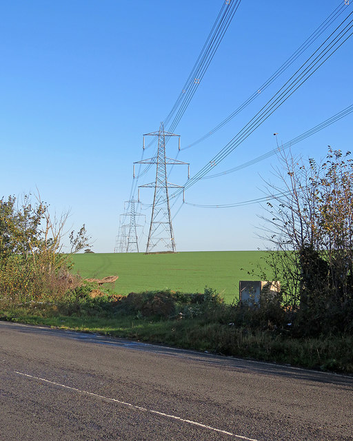 Pylons over the hill