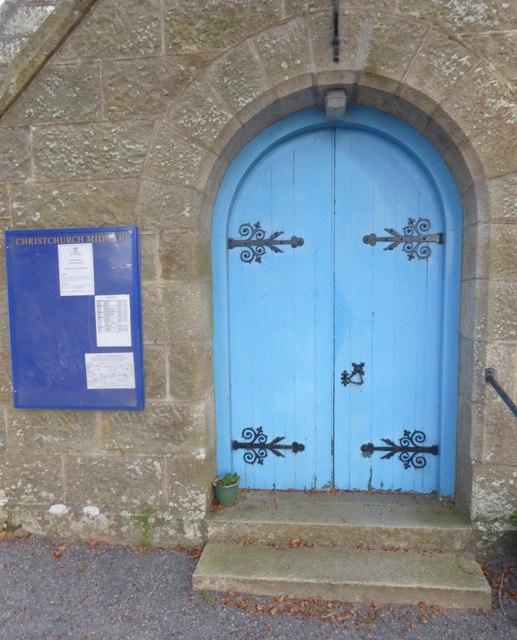 Entrance porch to Christchurch Midmar