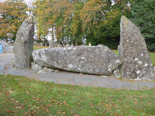 Recumbent stone slab (20T weight), Midmar Stone Circle