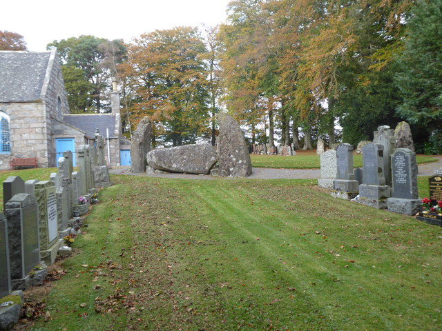 Graves and Recumbent Stone, Midmar Kirk