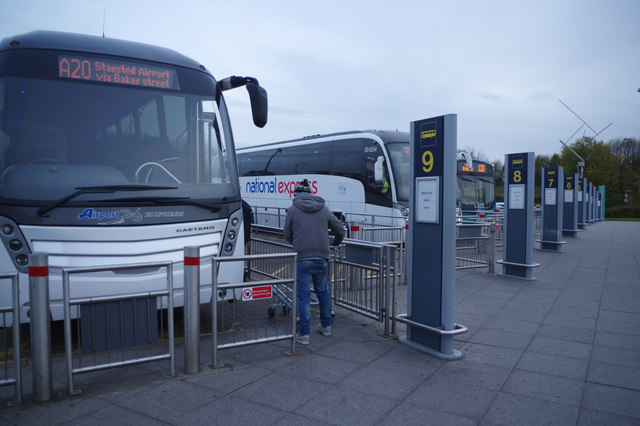Coach Arrivals Stansted Airport 169 Stephen Mckay Cc By Sa