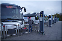TL5523 : Coach arrivals - Stansted Airport by Stephen McKay
