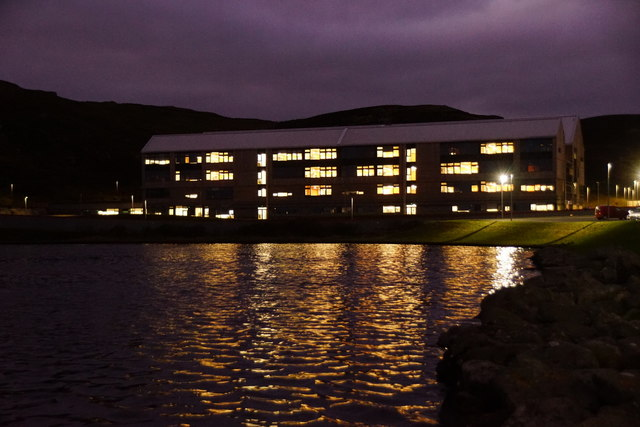 The new Anderson High School beside the Loch of Clickimin, Lerwick