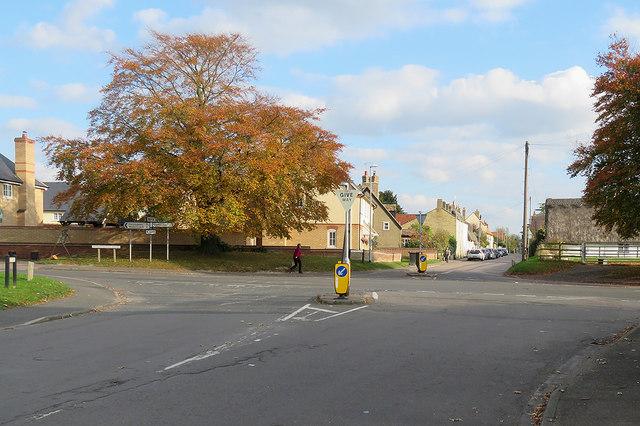 At Fen Ditton crossroads