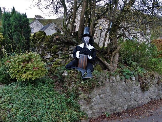 An effigy of Guy Fawkes in Carsington