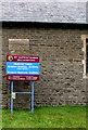 ST0090 : Information board outside St Illtyd's Church, Williamstown by Jaggery