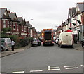 ST1479 : Refuse collection day, Evansfield Road, Llandaff North, Cardiff by Jaggery