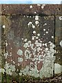 NS3585 : Auchentullich Bridge: inscribed tablet (from 18th century) by Lairich Rig
