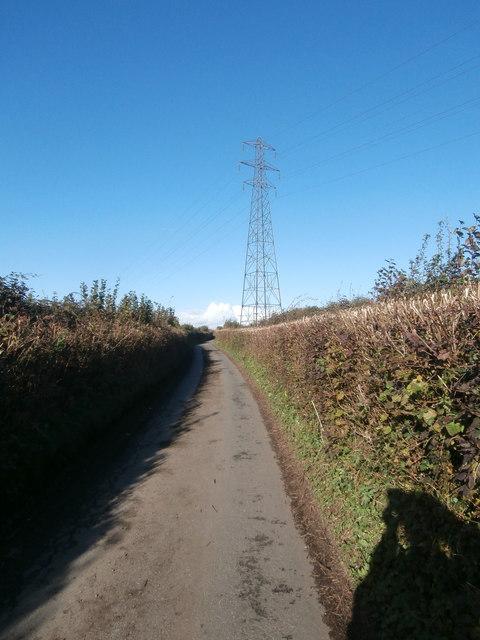 Pylon near Groesfaen