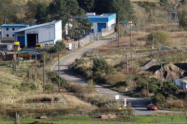 Buildings at the Galashiels Community Landfill Site