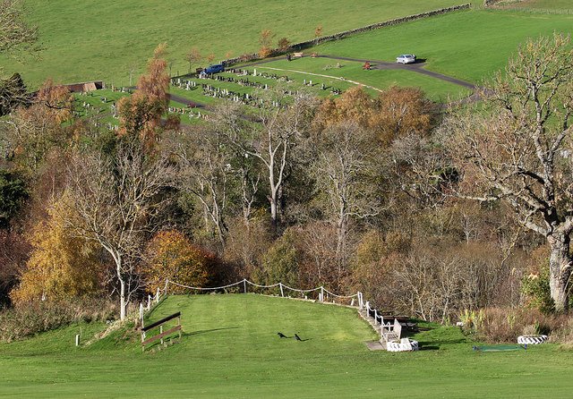The 10th tee at Galashiels Golf Course