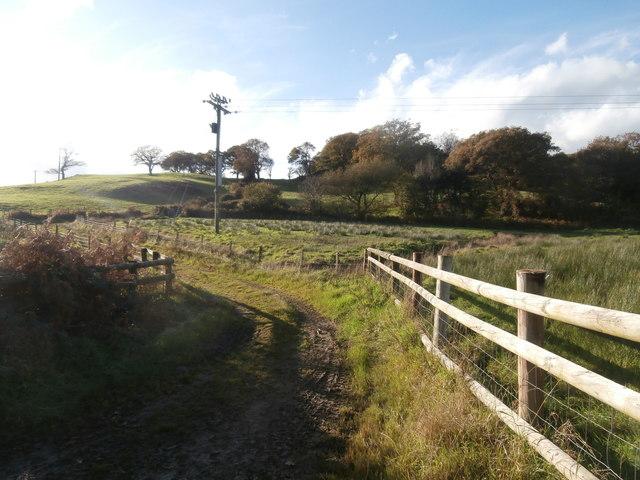 Taff Ely Ridgeway Walk footpath, near Rhiwsaeson