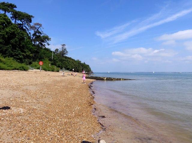 The beach in Osborne Bay