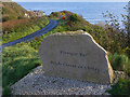 C6246 : Modern stone townland boundary marker for Kinnagoe Bay by SK53